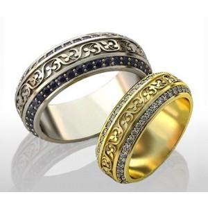 Золотое обручальное кольцо 415132