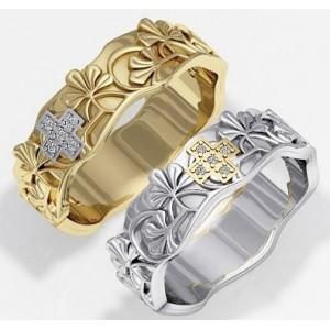 Золотое обручальное кольцо 415133