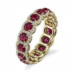 Золотое обручальное кольцо 415144