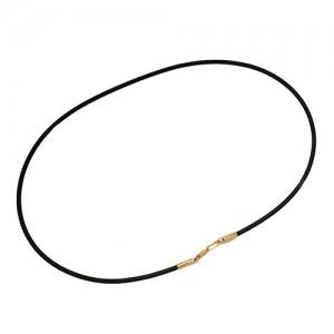 Каучуковый шнурок с золотым замком 950047