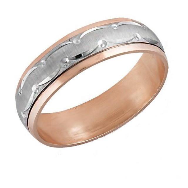 Золотое обручальное кольцо К001