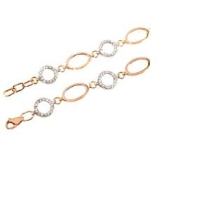 Золотой браслет с цирконами 075-01