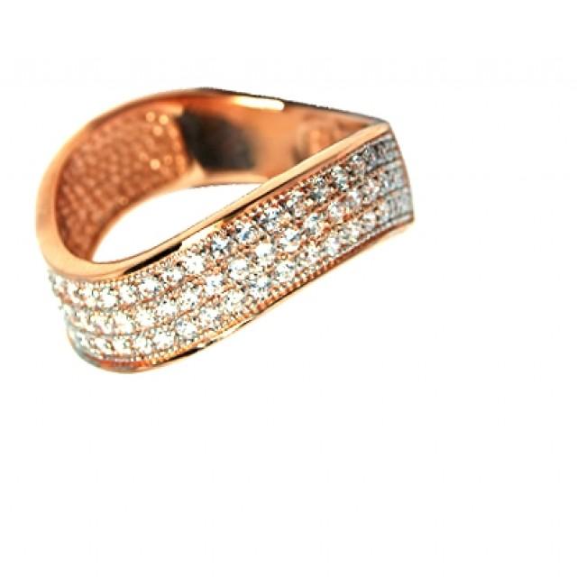 Золотое кольцо с цирконами 699-01