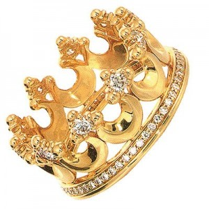 Золотое кольцо-корона