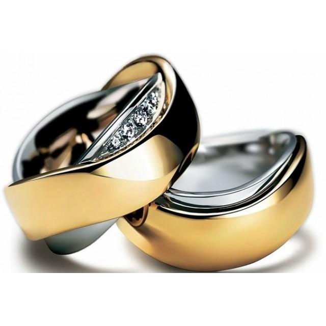 Золотое обручальное кольцо 412945