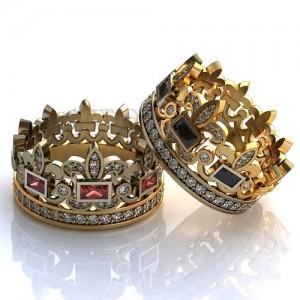 Золотое обручальное кольцо 415115