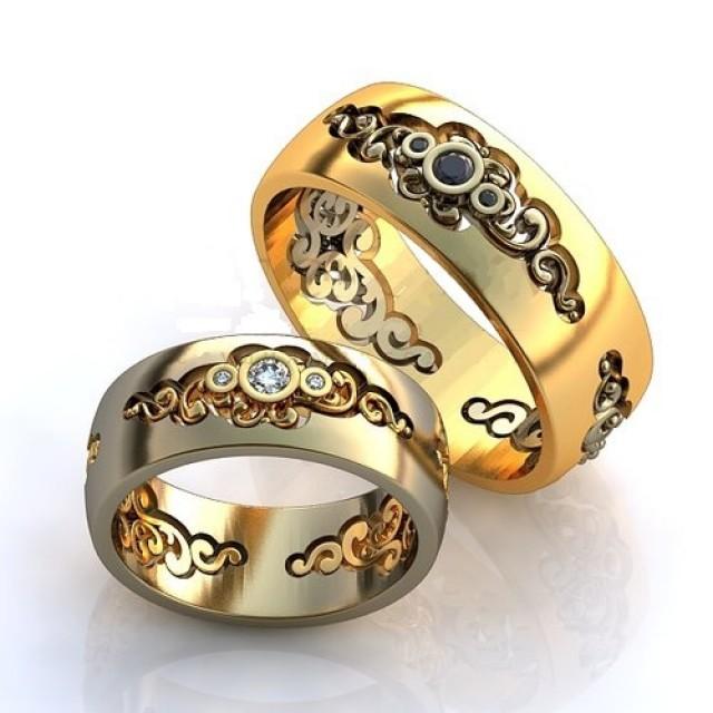 Золотое обручальное кольцо 410165