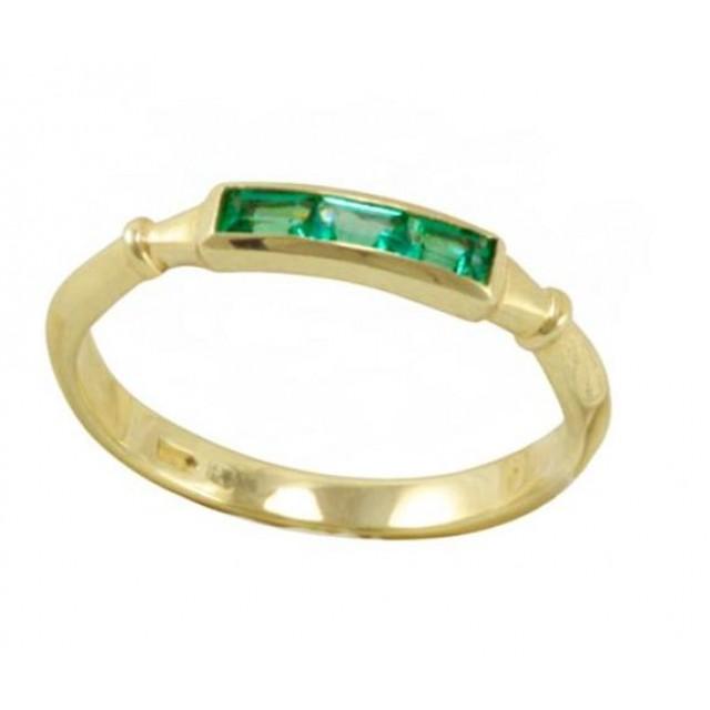 Золотое кольцо с изумрудом zt-700083e фото