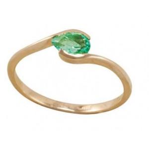 Золотое кольцо с изумрудом zt-700143e фото