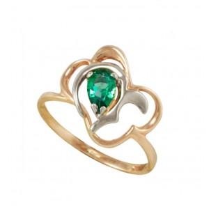 Золотое кольцо с изумрудом zt-700215e фото