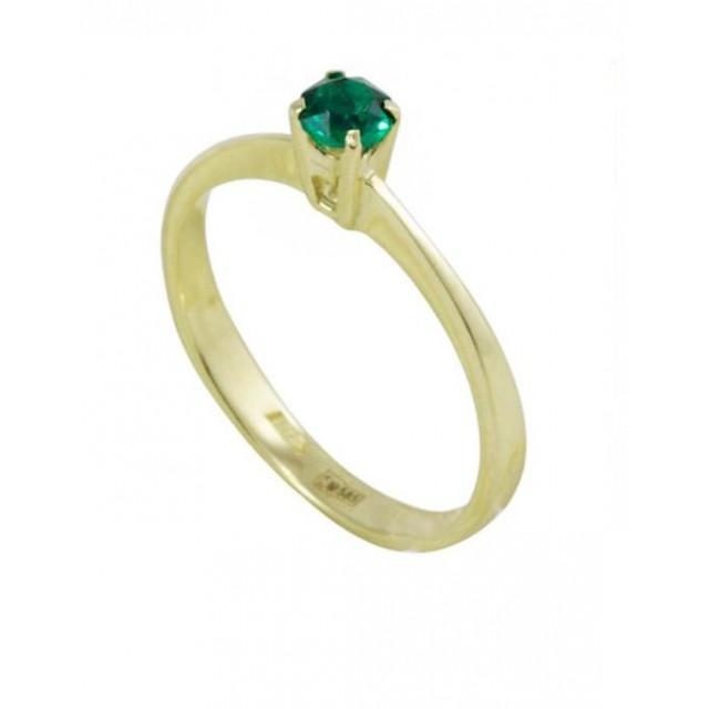 Золотое кольцо с изумрудом zt-700295e-y