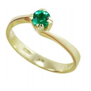 Золотое кольцо с изумрудом zt-700296e-y