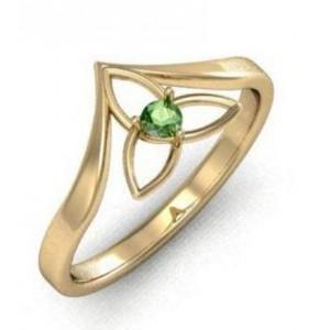 Золотое кольцо с изумрудом zt-700300e фото