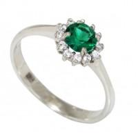 Золотое кольцо с изумрудом zt-700303e-w