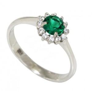 Золотое кольцо с изумрудом zt-700303e-w фото