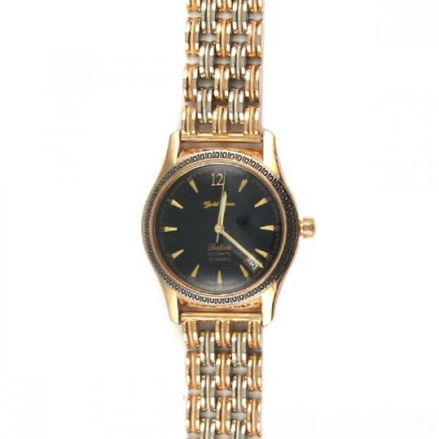 Золотое мужские часы 570а+1067