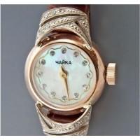 Золотые часы женские 019Р