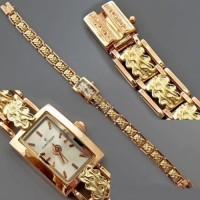 Золотые часы женские 220