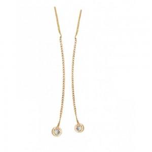 Золотые серьги цепочки 420213