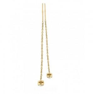 Золотые серьги цепочки 420214