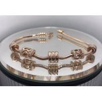 Золотой женские браслет с шармами 4215780101