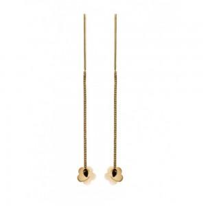 Золотые серьги протяжки 580039