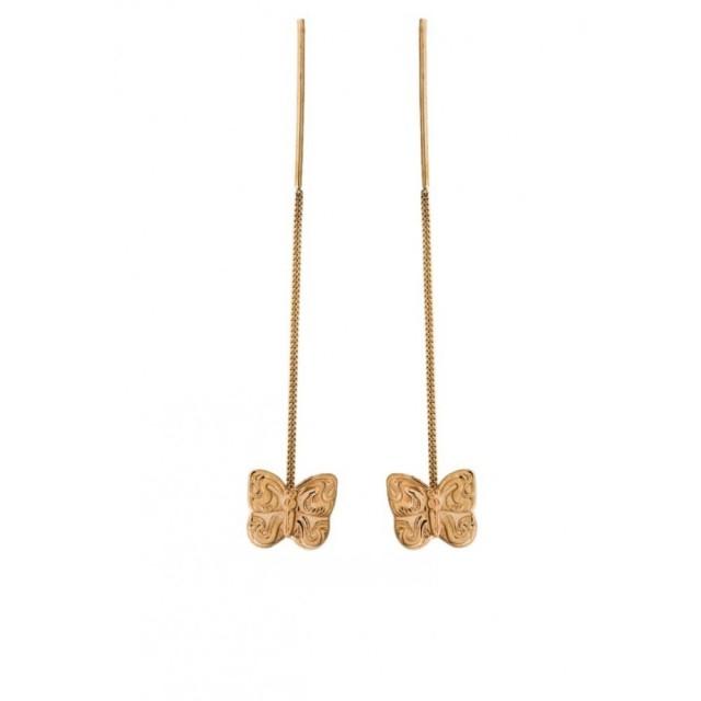 Золотые серьги продевки 580050