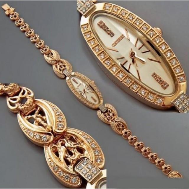 Золотые часы женские 60Т