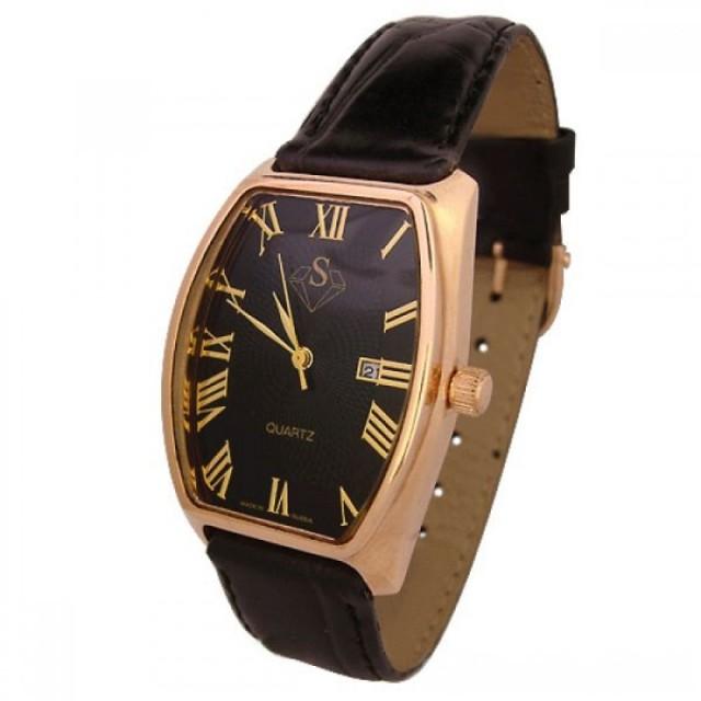 Золотые часы мужские с браслетом 669