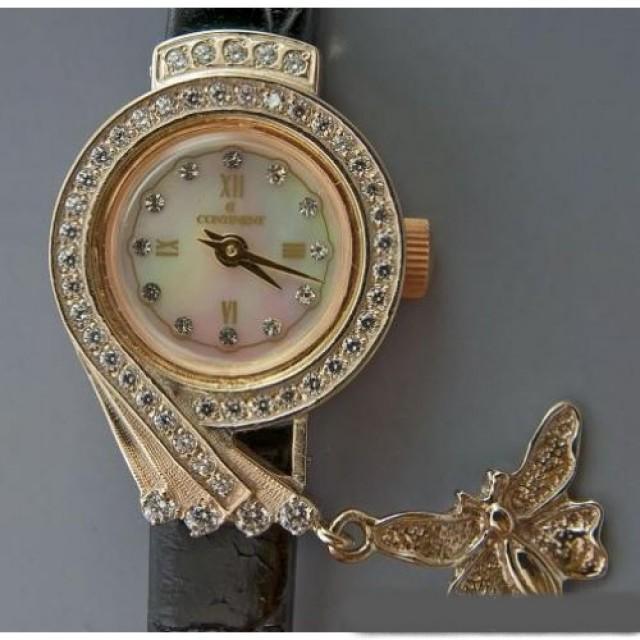 Золотые часы женские 72РБ