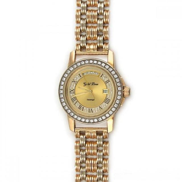 Золотые часы мужские с браслетом 930+1067