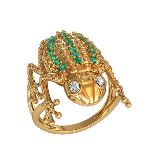 Золотое женское кольцо 14815
