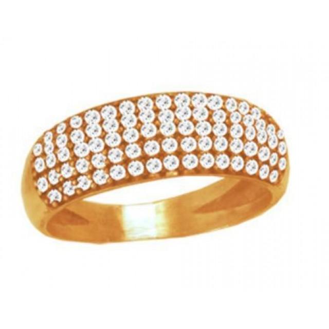Золотое обручальное кольцо 105140