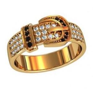 Золотое обручальное кольцо ремешок 211070 ювмод