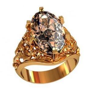 Золотая печатка женская 212050 ювмод