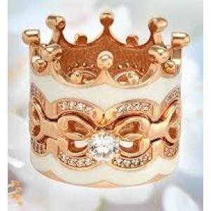 Золотое обручальное кольцо с эмалью 330083