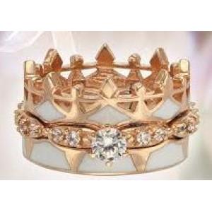 Золотое обручальное кольцо с эмалью 330084