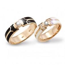 Обручальные кольца с эмалью – красота, не требующая слов