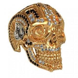 Золотая печать Череп 700160 ювмод
