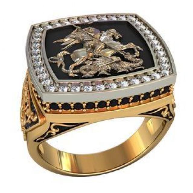 детально описывает перстень мужской золотой с георгием победоносцем известны все