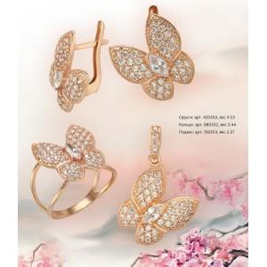 Золотой гарнитур бабочки 720263