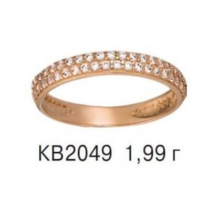Золотое обручальное кольцо КВ 2049