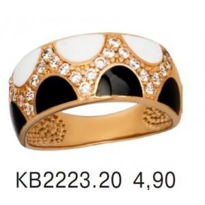 Золотое обручальное кольцо с эмалью 2223-20