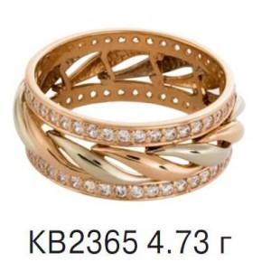 Золотое обручальное кольцо КВ 2365-4