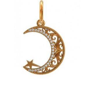 Золотой кулон Мусульманский полумесяц 411560 ювмод