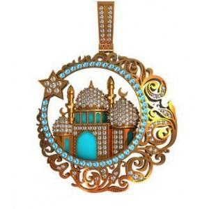 Золотой кулон Мусульманская мечеть 411340 ювмод