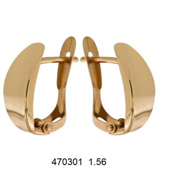 Золотые серьги без камней 470301