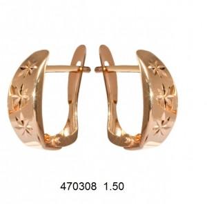 Золотые серьги без камней 470308