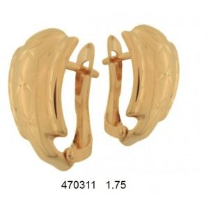 Золотые серьги без камней 470311