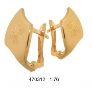 Золотые серьги без камней 470312